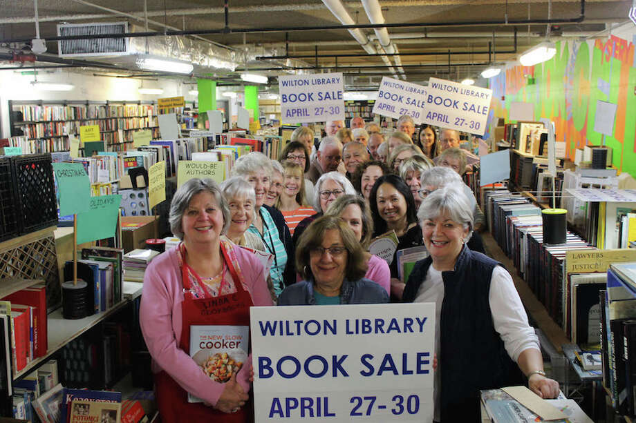 Volunteers have been working feverishly to ready Wilton Library's Gigantic Book Sale.