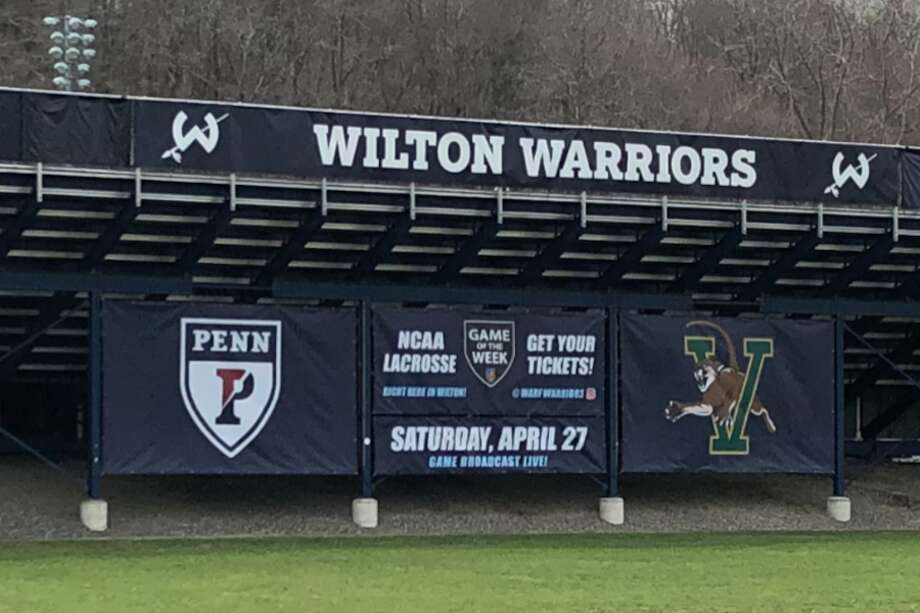 Wilton will host an NCAA college lacrosse game between the University of Pennsylvania and Vermont on April 27. — Contributed photo