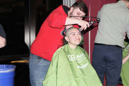 Wilton High Student Cassie Foley was excited to participate in St. Baldrick's annual event for the first time.