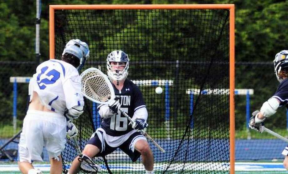 Senior Andrew Calabrese is one of the state's best goalies. — Bob Luckey Jr./Hearst Connecticut Media