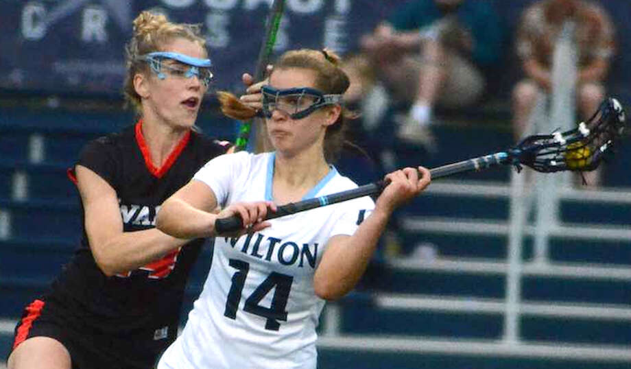 Senior midfielder is one of the captains for the Wilton girls lacrosse team. — J.B. Cozens photo