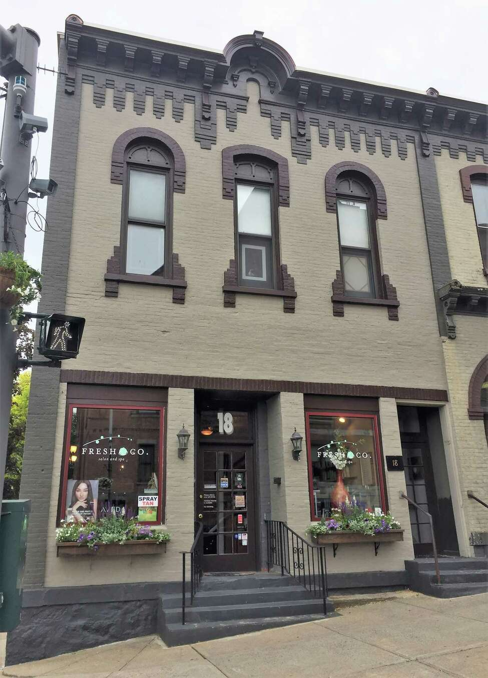 The owners of 18 Lake Ave., Melissa Paquet and Joe Ponessa, received an Exterior Building Rehabilitation award from the Saratoga Springs Preservation Foundation in May, 2019. They worked with local craftsman Chris Bennett.