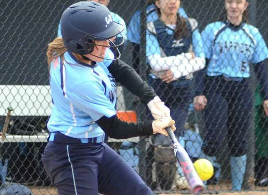 Hannah Belanger is one of three seniors who are four-year starters for the Wilton softball team. — J.B. Cozens photo