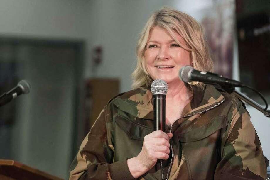 Martha Stewart speaks to a crowd at Wilton Library on March 12, 2019. — Bryan Haeffele/Hearst Connecticut Media