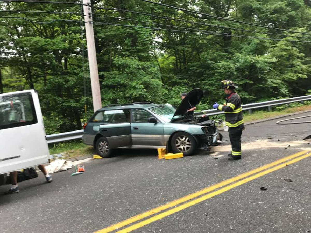 Emergency personnel did double duty Thursday evening when they responded to two different accidents at around the same time.