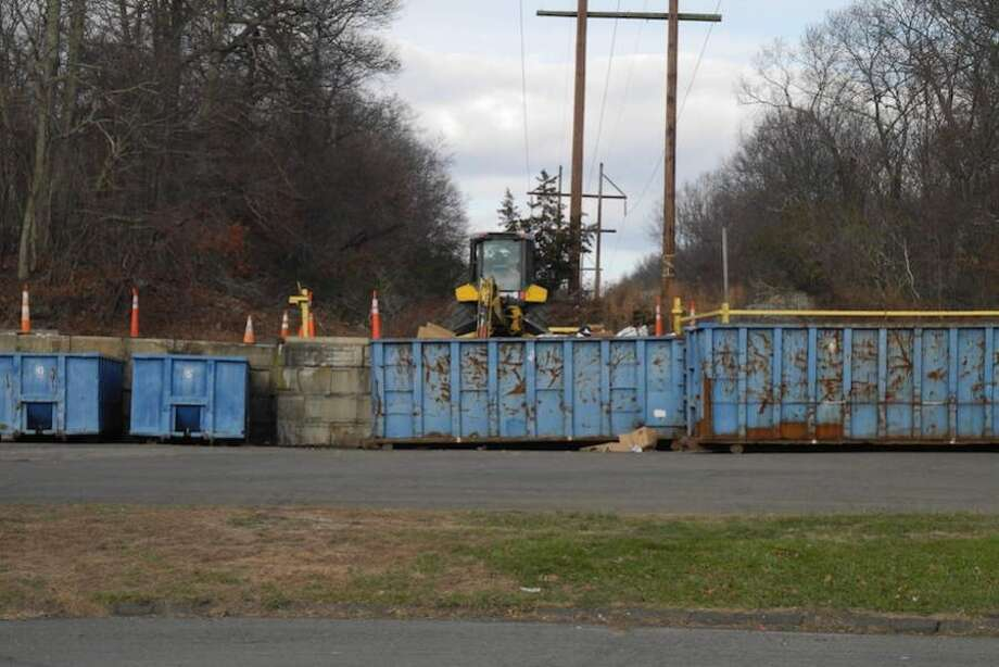 The recycling bins at the Wilton Transfer Station on Mather Road. — Jeannette Ross/Hearst Connecticut Media