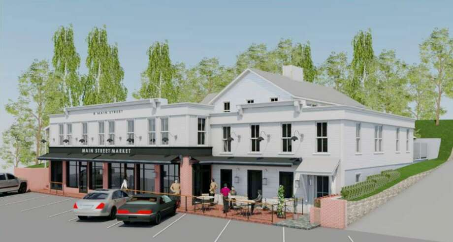 Artist's rendition of the renovated Georgetown Saloon building. Contributed photo
