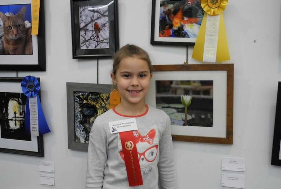 Amelia Yerenkova, a first grader at Miller-Driscoll, won third place for her photo Fish Show.