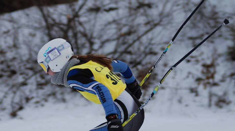 Wilton's Kira Howard has finished first overall at three of five girls ski races this winter.
