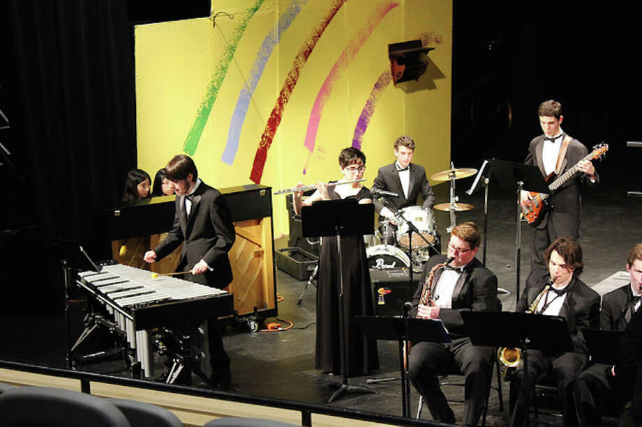 Members of the Wilton High School Jazz Band.
