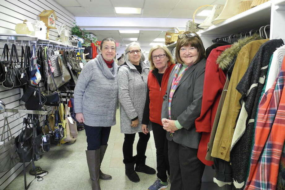 Volunteers at the Turnover Shop, from left, Gladys O'Neil, Lisa Roggiro, Kathy Gibson, and Sharon Sobel.