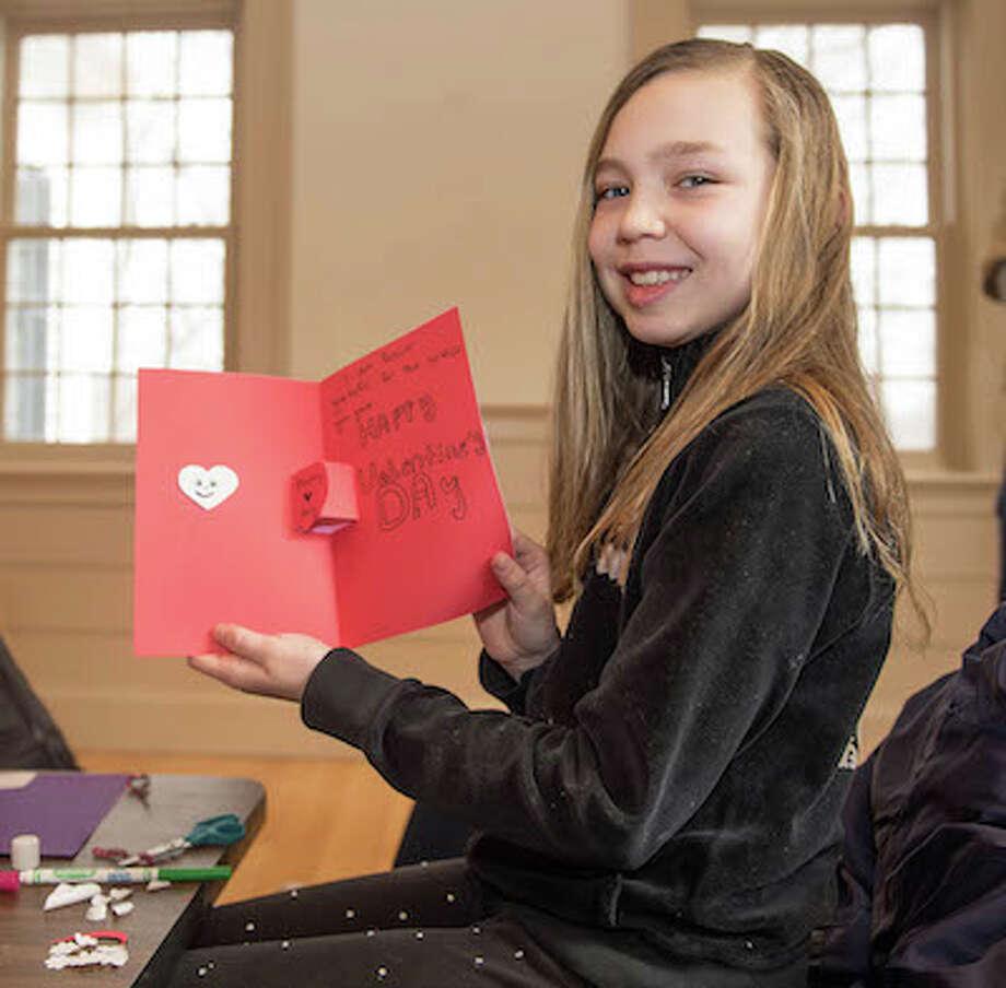 Sydney Fields, 9, shows her creation. / BryanHaeffele