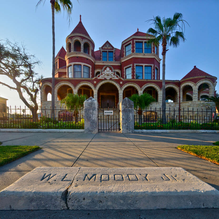 The Moody Mansion, adorned with turrets, dormers and arches, was designed by architect W.H. Tyndall. Photo: Courtesy Galveston Island Convention And Visitors Bureau