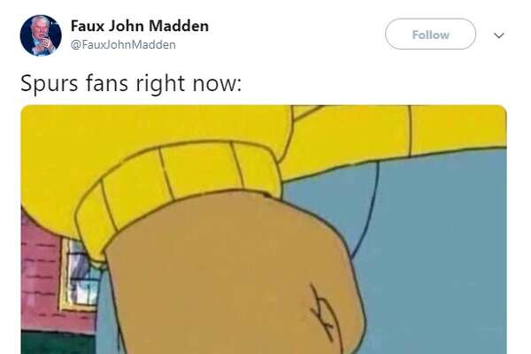 "@FauxJohnMadden ""Spurs fans right now:"""