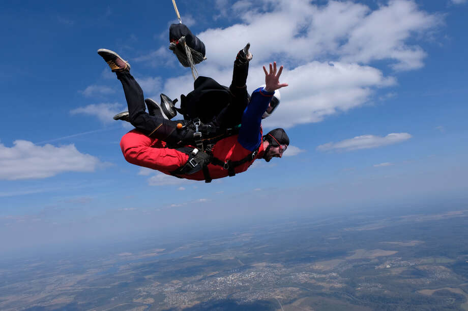 Skydiving Galveston draws visitors from all across Texas, as well as all over the country, due to the fact that it's the only place in the U.S. where skydivers can land on the beach for every jump. Photo: Shutterstock