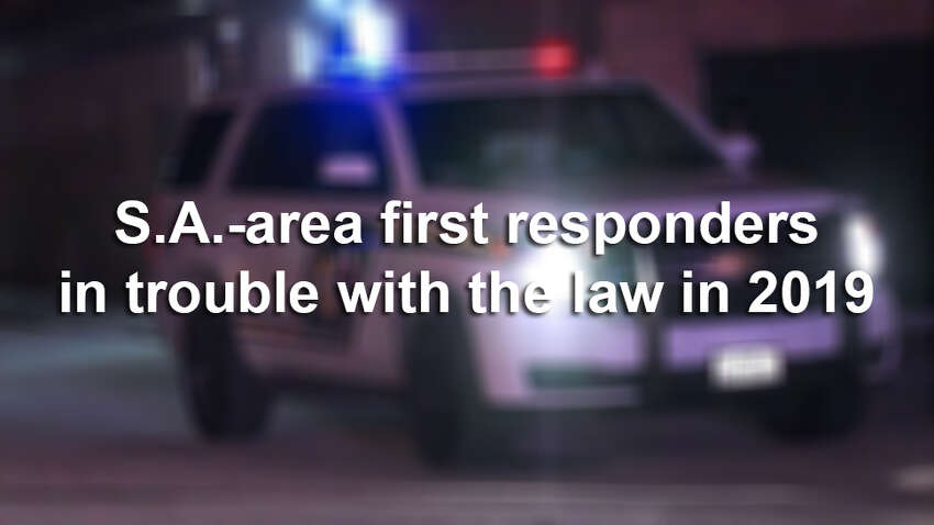 Click ahead to read more about San Antonio-area first responders in trouble with the law in 2019.