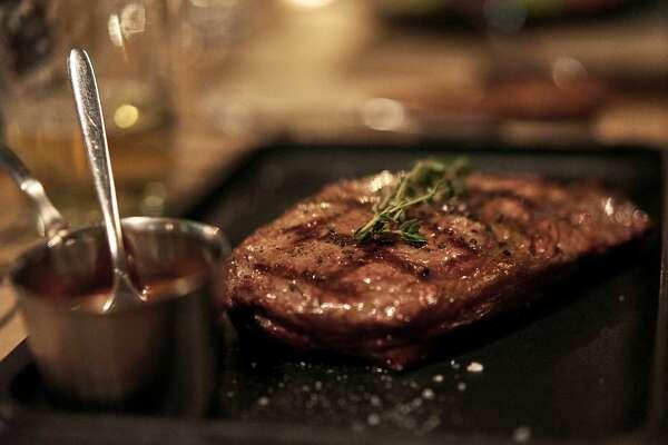 juicy meat steak in the restaurant