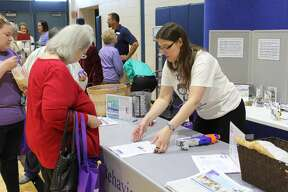 Huron County seniors came in droves to the Huron County Senior Fair at Bad Axe High School on Friday. They could visit booths for various senior services and attend seminars.