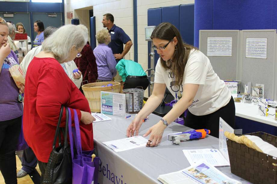 Huron County seniors came in droves to the Huron County Senior Fair at Bad Axe High School on Friday. They could visit booths for various senior services and attend seminars. Photo: Robert Creenan/Huron Daily Tribune