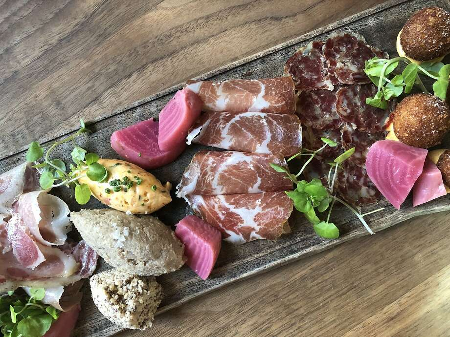 The charcuterie plate at flour + water in San Francisco. Photo: Soleil Ho