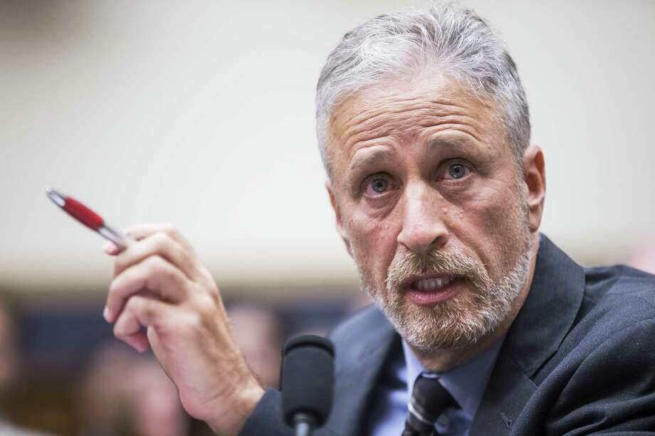WASHINGTON, DC - JUNE 11: Former Daily Show Host Jon Stewart testifies during a House Judiciary Committee hearing on reauthorization of the September 11th Victim Compensation Fund on Capitol Hill on June 11, 2019 in Washington, DC. The fund provides financial assistance to responders, victims and their families who require medical care related to health issues they suffered in the aftermath of 9/11 terrorist attacks. (Photo by Zach Gibson/Getty Images) Photo: Zach Gibson / 2019 Getty Images