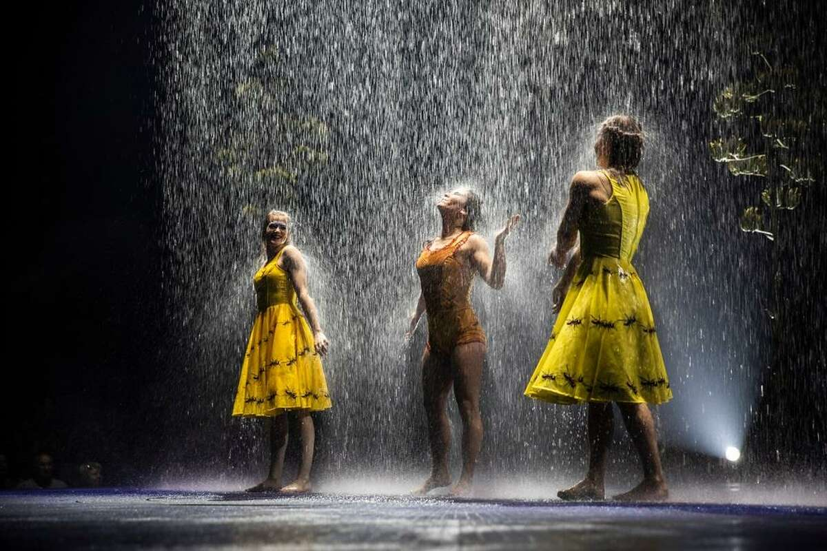 """BIG TOP: Cirque du Soleil sets up in Hartford this week on Market Street, and rain will appear on stage in """"Luzia."""" See our story online or in the June 13 Go section."""