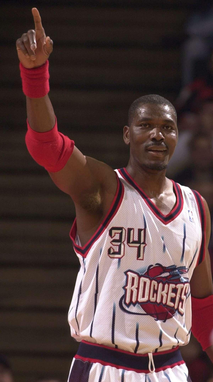 Hakeem Olajuwon, former Rockets forward. Nice