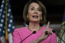Speaker of the House Nancy Pelosi, D-Calif., meets with reporters at the Capitol in Washington, May 23. A reader says there should be more consequences for those who alter news.