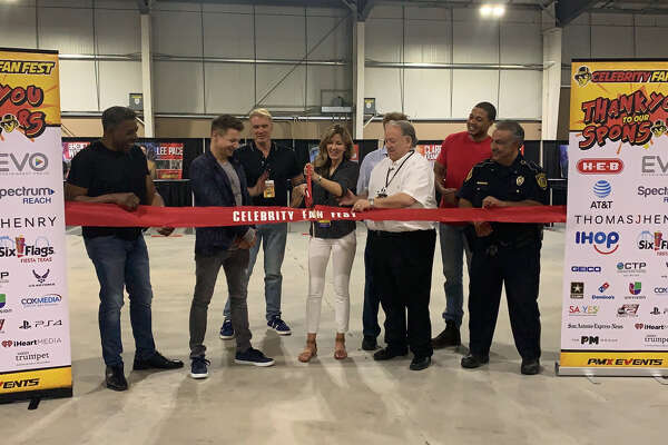 "Stars chat about how ""great"" it feels to be in the Alamo City after the ribbon cutting ceremony that kicked off Celebrity Fan Fest Friday afternoon, June 14, 2019, at Freeman Coliseum."