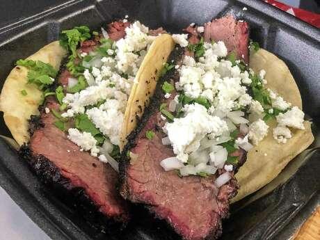 Brisket taco at Palomo Pit BBQ pop-up