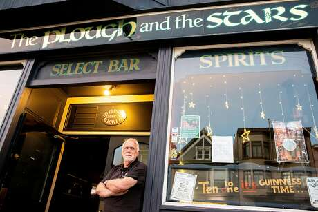 Sean Heaney outside the Plough and the Stars, the Irish pub he owns in the Inner Richmond. Photo: Santiago Mejia / The Chronicle