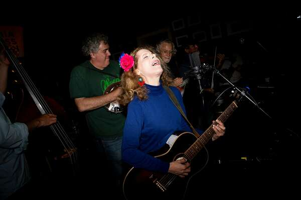 Mikal Sandoval performs during a Bluegrass Country Jam at the Plough and the Stars Wednesday, June 5, 2019, in San Francisco, Calif. The Irish pub is located at 116 Clement St.