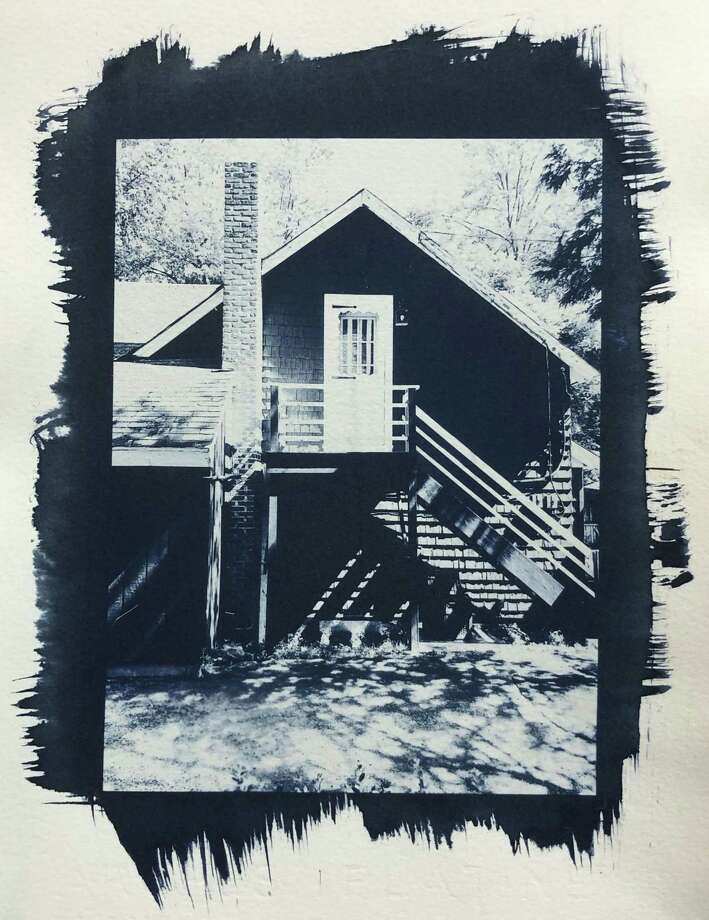 """Market, side,"" a cyanotype by Western Connecticut State University Adjunct Professor of Art Bruce Dunbar, who will offer an intensive four-day Alternative Photographic Processes Workshop July 15-18 at the Visual and Performing Arts Center on the university's Westside campus in Danbury. Photo: Western Connecticut State University / Contributed Photo"