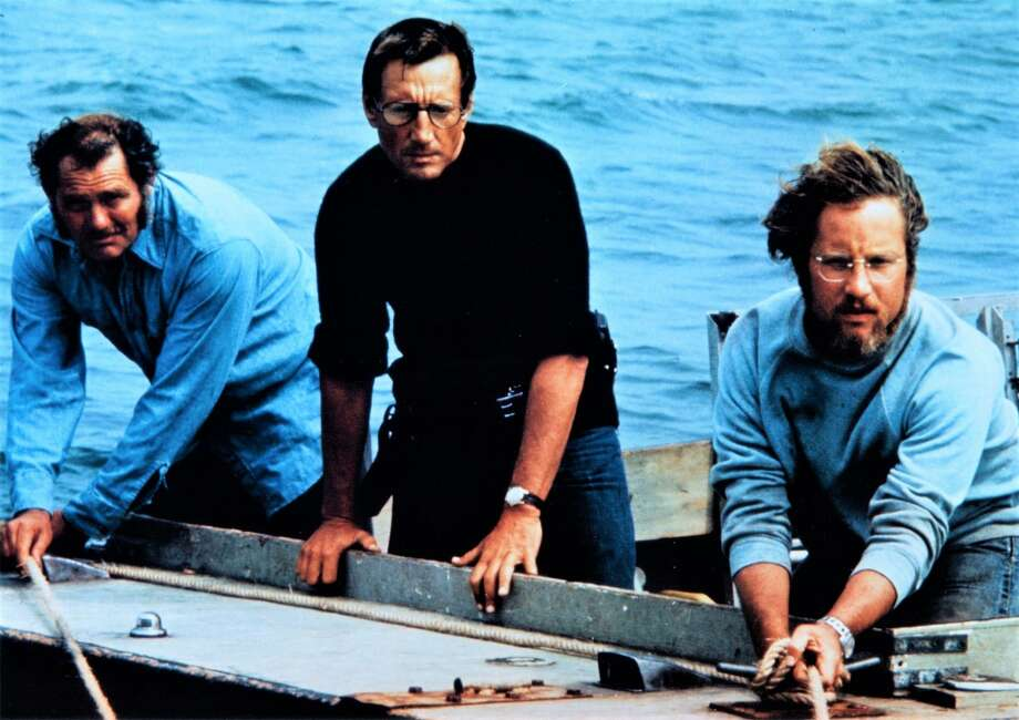 "Robert Shaw, left, Roy Scheider and Richard Dreyfuss in a scene from ""Jaws,"" which Stamford's Avon Theatre is screening July 3. Photo: Avon Theatre / Contributed Photo"
