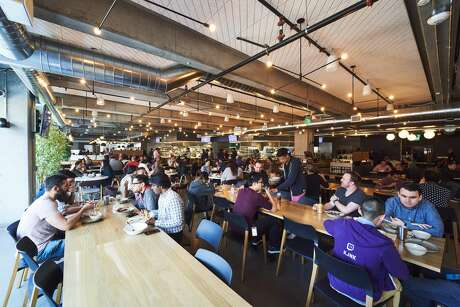 The cafeteria inside the Twitch offices in San Francisco. Photo: Avery Wong, Photo By Avery Wong / Courtesy Of Twitch