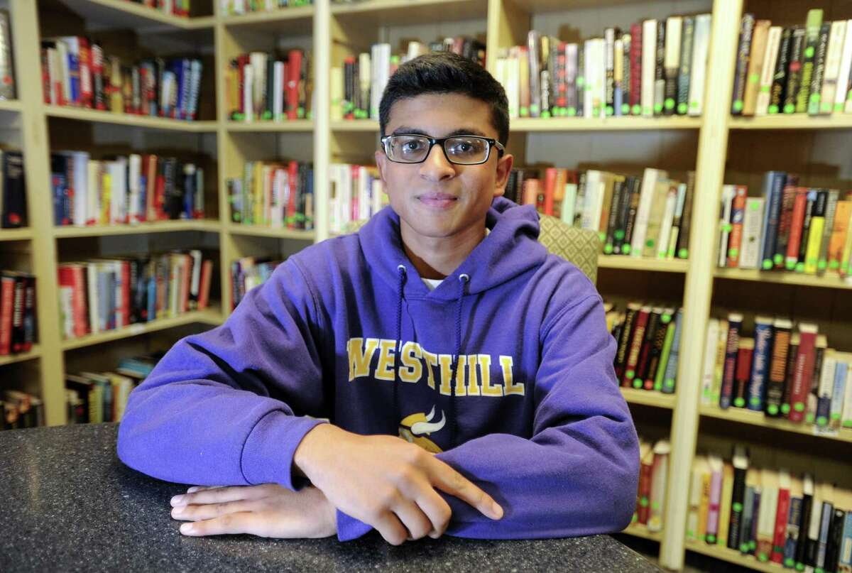 Westhill High School student Gaurov Bansal got a perfect score on the ACT exam. Bansal is photograph on June 12, 2019 at his home in Stamford, Connecticut.