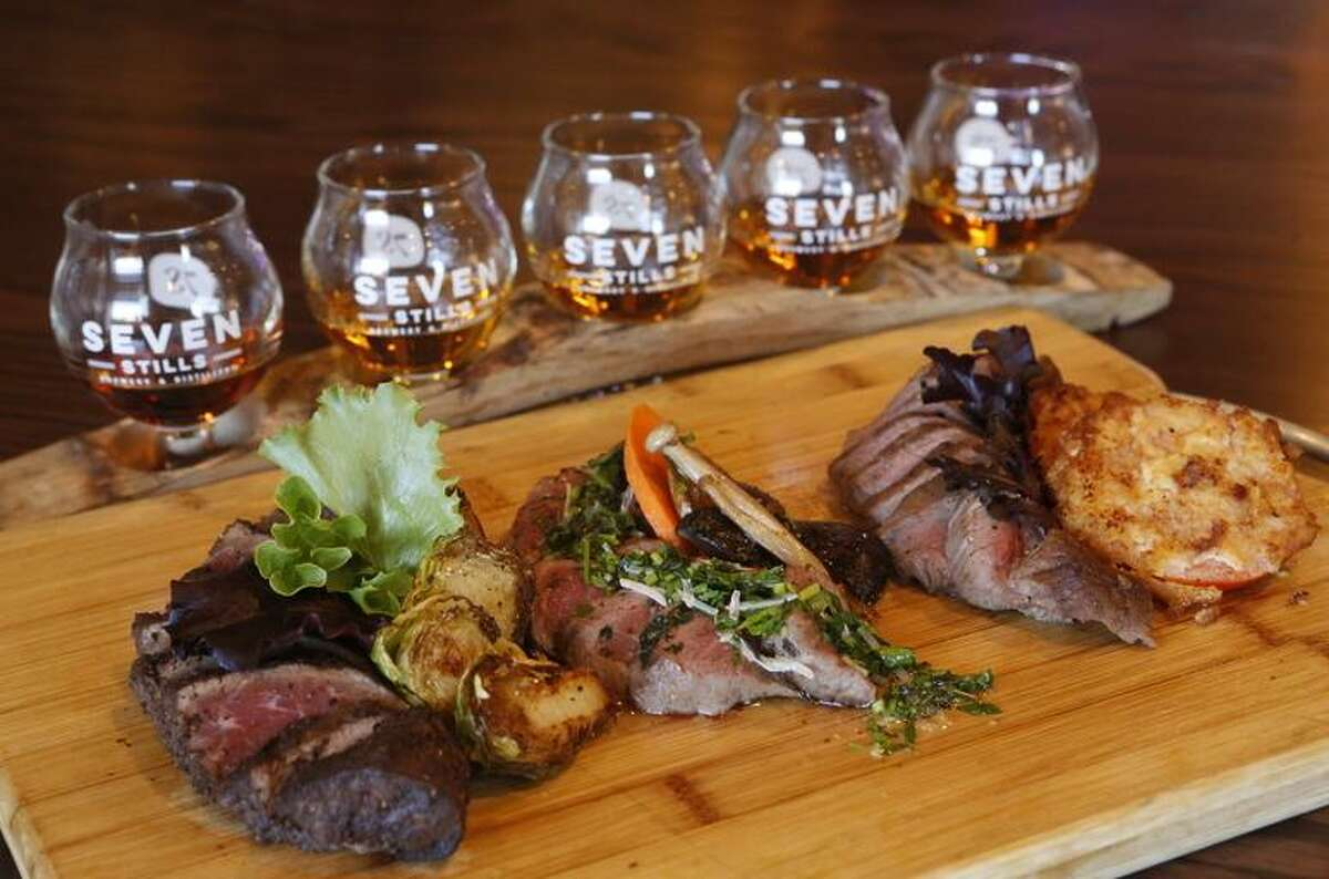 Seven Stills plans food at its new taproom, like its whiskey flight and beef pairing at its Nob Hill site.