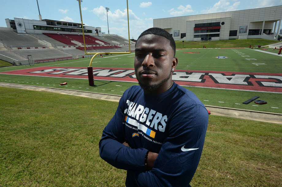 Former Lamar football player Rodney Randle is in camp with the LA Chargers and is planning a youth camp at Beaumont United in June. Photo taken Friday, 6/14/19 Photo: Guiseppe Barranco / The Enterprise
