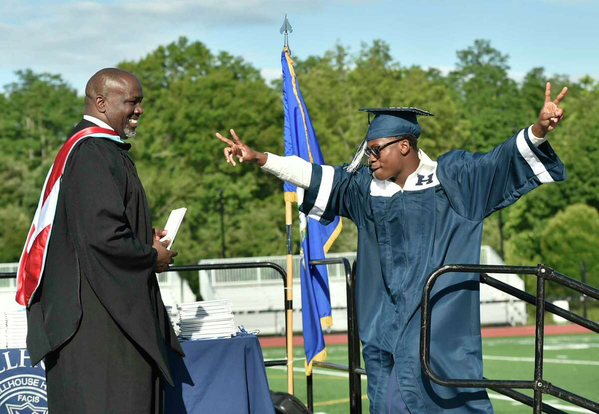 New Haven, Connecticut - Friday, June 14, 2019: Hillhouse H.S. 160th Commencement Exercises for the Class of 2019 Friday at Bowen Field in New Haven.