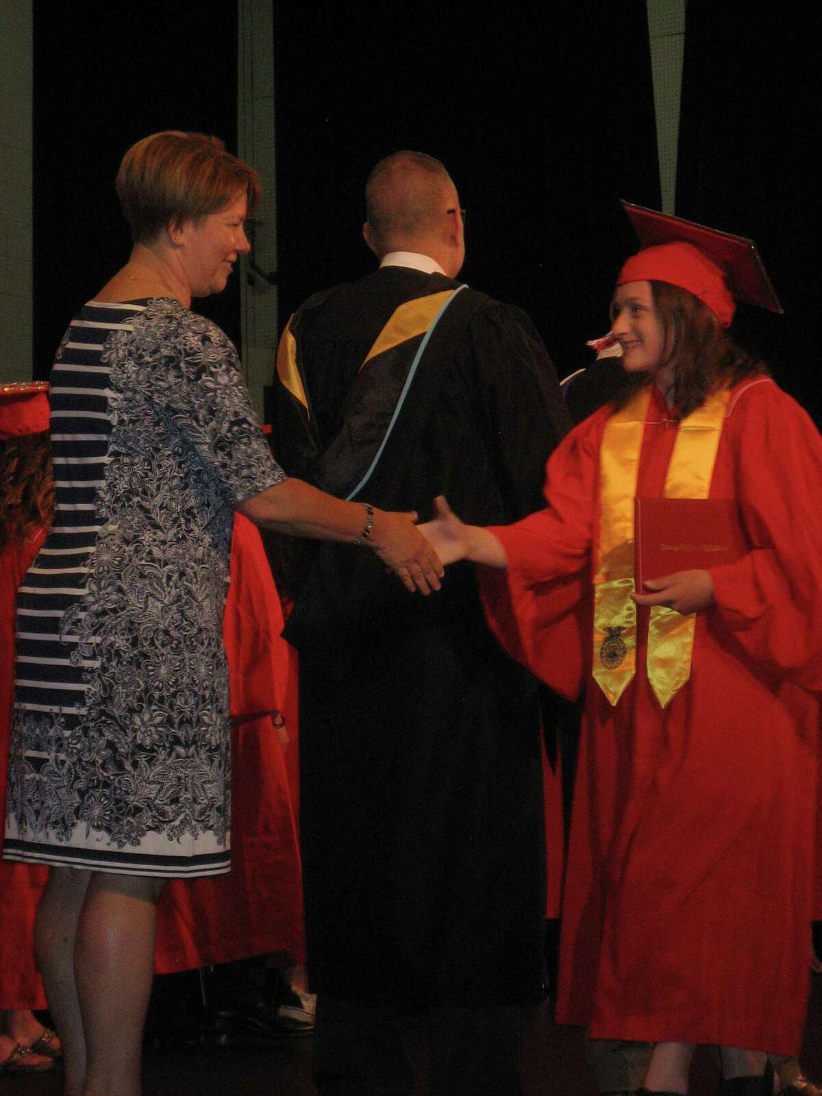 Wamogo Regional High School's Class of 2019 graduated Friday night in the auditorium, where a packed house of family and friends clapped and cheered.