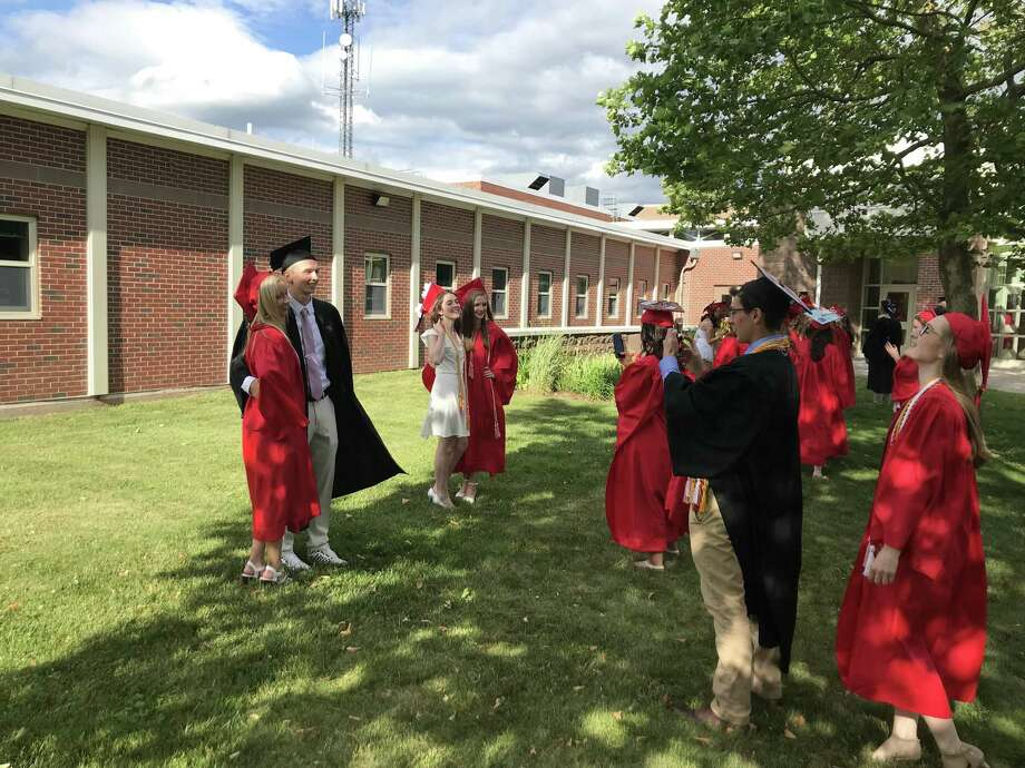 Portland High School class of 2019 commencement took place on Friday June 14, 2019. Photo: Jeff Mill / Hearst Connecticut Media F