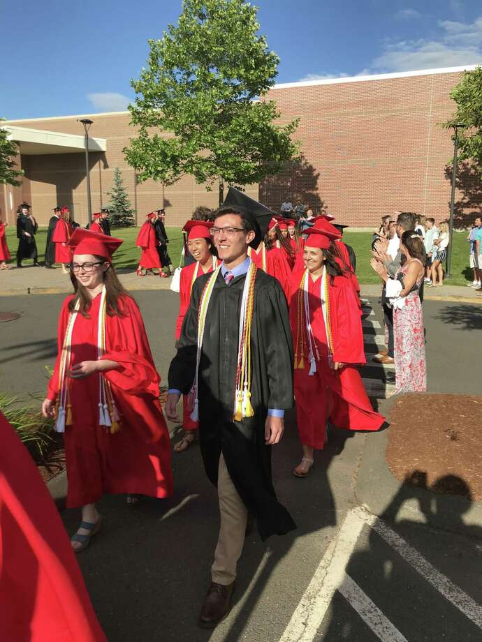 The Portland High School class of 2019 commencement took place on Friday June 14, 2019. Photo: Jeff Mill / Hearst Connecticut Media