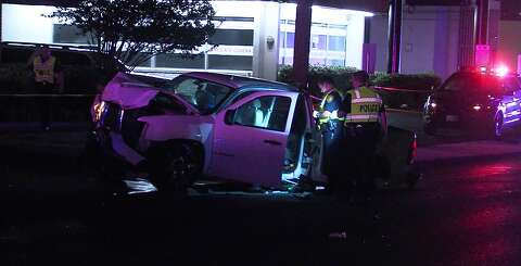 Three injured, one dead after pickup truck plows into vehicle