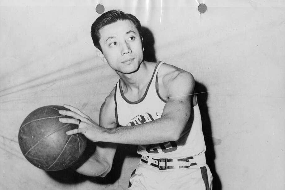 Wataru Misaka in 1944, when he played for the University of Utah. Photo: University Of Utah Handout Photo / handout