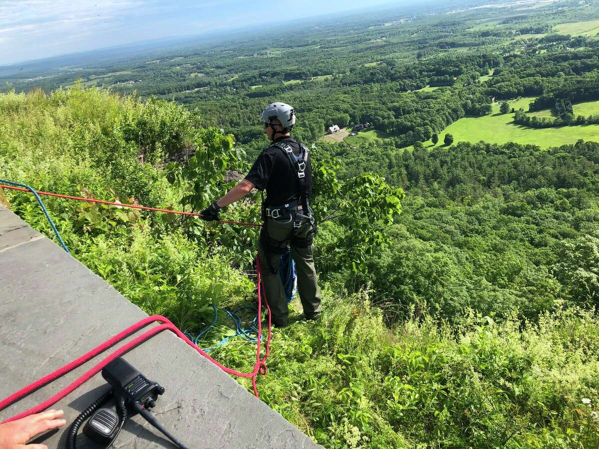 A fall at the Thacher Park overlook prompted an emergency response on the morning of Saturday, June 15, 2019.