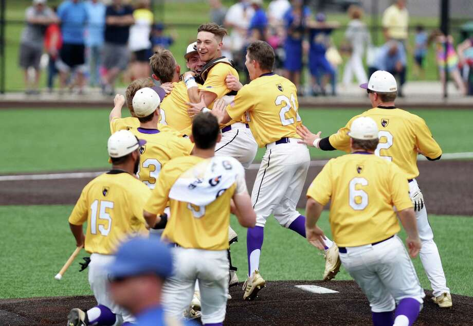 The Ballston Spa Scotties celebrate winning the Class A baseball state final against Maine Endwell on Saturday, June 15, 2019 at Binghamton University in Binghamton, NY. (Phoebe Sheehan/Times Union) Photo: Phoebe Sheehan, Albany Times Union / 40047248A