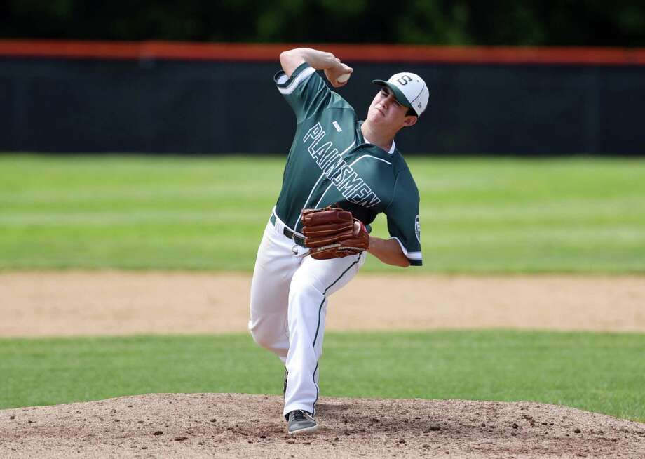Shenendehowa pitcher Matt Mariano winds up for a pitch during the Class AA state final against McQuaid Jesuit on Saturday, June 15, 2019 at Union Endicott High School in Endicott, NY. (Phoebe Sheehan/Times Union) Photo: Phoebe Sheehan, Albany Times Union / 40047247A