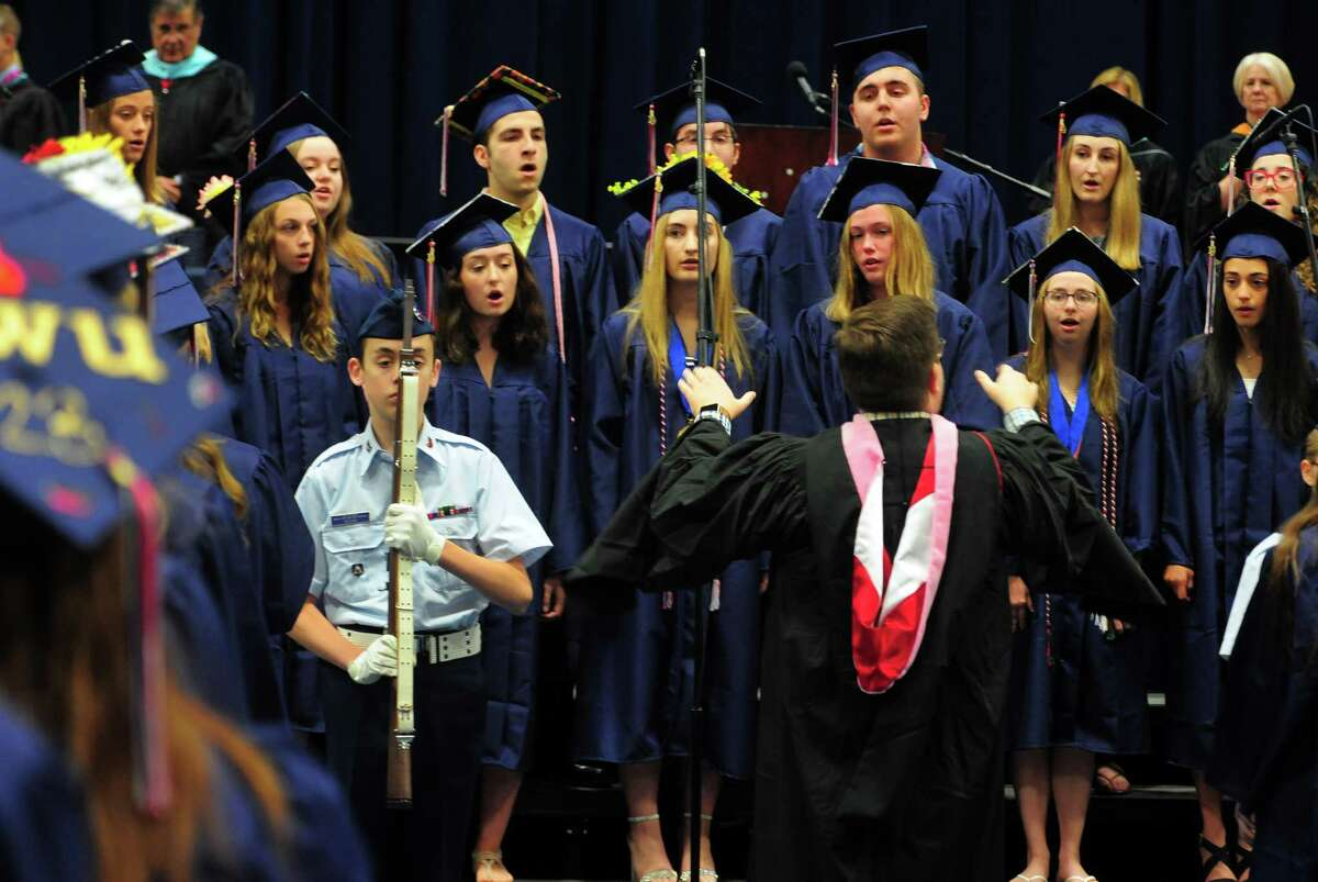 New Fairfield's High School's 44th Commencement Exercises at at the O'Neill Center at Western Connecticut State University in Danbury, Conn., on Saturday June 15, 2019.
