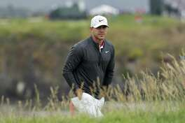 Brooks Koepka walks to the 17th green during the second round of the U.S. Open Championship on Friday in Pebble Beach, Calif.