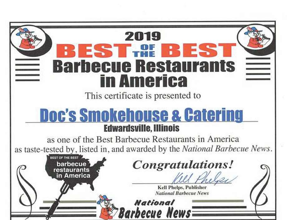 Doc's Smokehouse was awarded National Barbeque News' Best of the Best barbeque in America Photo: Courtesy Of National Barbeque News